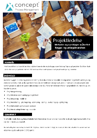 Projektledelse - Metoder og værktøjer målrettet bygge- og anlægsbranchen