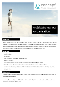 Projektstrategi og -organisation