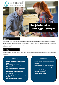 Projektledelse - kun for bygge- og anlægsfolk